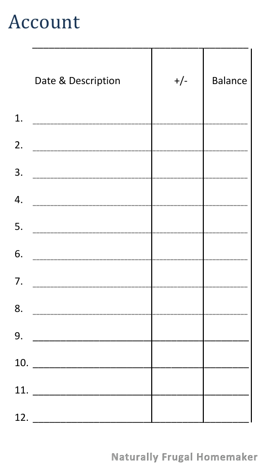 The Cash Envelope System  Free Printable Cash Envelope  Naturally